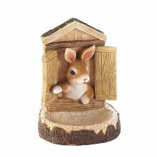 Buy *17755U - Bunny Treehouse Bird Feeder Hanging Wall Plaque