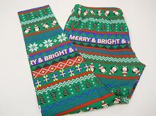 Buy Women Leggings CHRISTMAS PENGUINS SIZE L Skinny Legs Mid Rise Inseam 29