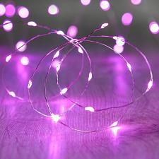 Buy :10845U - 20 LED Copper Wire Purple Fairy Lights
