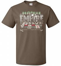 Buy Boardwalk Empire Unisex T-Shirt Pop Culture Graphic Tee (2XL/Chocolate) Humor Funny N