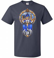 Buy Prince Of All Sayians Unisex T-Shirt Pop Culture Graphic Tee (XL/J Navy) Humor Funny