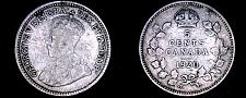 Buy 1920 Canada 5 Cent World Silver Coin - Canada - George V - Lot#9933