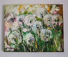 Buy Dandelions Original Oil Painting Meadow Wild Flowers Impressionist Textured Art
