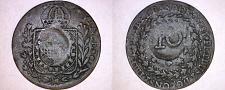 Buy ND(1835) Brazil State Para 10 Reis Countermark on 1829C 40 Reis Host