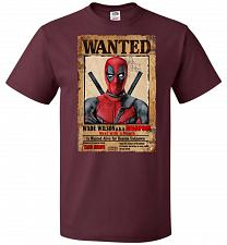 Buy Deadpool Wanted Poster Youth Unisex T-Shirt Pop Culture Graphic Tee (Youth S/Maroon)