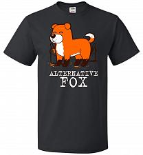 Buy Alternative Fox Unisex T-Shirt Pop Culture Graphic Tee (3XL/Black) Humor Funny Nerdy