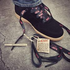 Buy RAW rolling papers Brand SHOE LACES with METAL POKER TIPS ON THE ENDS