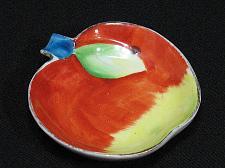 Buy Occupied Japan Vintage Porcelain Apple Figural Ashtray Snuffer Japan Fruit