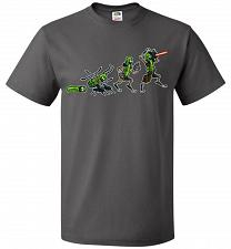 Buy Pickle Rick Evolution Unisex T-Shirt Pop Culture Graphic Tee (XL/Charcoal Grey) Humor