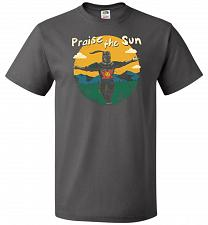 Buy Praise The Sun Unisex T-Shirt Pop Culture Graphic Tee (M/Charcoal Grey) Humor Funny N