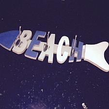 Buy beach decor wall rack 3 hook fish motif for clothing, keys