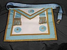 Buy Vintage Masonic Master Mason Apron Regalia Blue White Gold Freemason Ceremonial