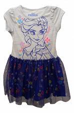 Buy DISNEY Frozen ELSA Girls Dress Size 3T Blue Tulle Skirt Scoop Neck Short Sleeves