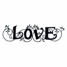 Buy *17914U - Love Black Iron Wall Art Plaque
