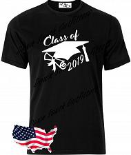 Buy Class of 2019 Cap Diploma T Shirt Senior Graduation Small - 6X (16 Tee Colors)