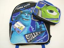 "Buy Backpack Detachable Lunch Kit Disney Monsters University Full Size 16"" inches"