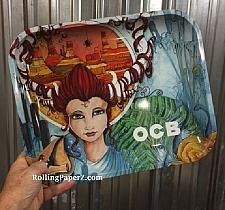 """Buy New OCB Cigarette Papers Brand Metal Rolling Tray 14"""" x 11"""" Artwork Series Large"""
