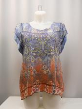 Buy STYLE&CO Women Top Plus Size 0X Embellished Paisley Batwing Sleeves Asymmetrical