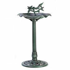 Buy 39617U - Verdigris Finish Birdbath Scalloped Bowl Ornate Pedestal