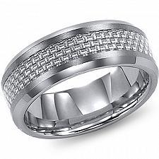 Buy coi Jewelry Titanium Ring With Carbon Fiber