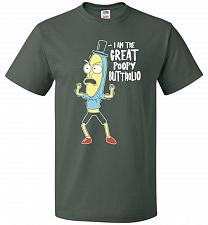 Buy The Great Poopy Buttholio Unisex T-Shirt Pop Culture Graphic Tee (S/Forest Green) Hum