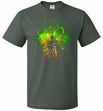 Buy Mandalore Art Unisex T-Shirt Pop Culture Graphic Tee (XL/Forest Green) Humor Funny Ne