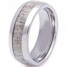 Buy coi Jewelry Black Tungsten Carbide Deer Antler Ring - TG2257(Size:US7.5)