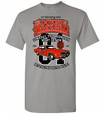 Buy Dukes of Hazzard General Lee Unisex T-Shirt Pop Culture Graphic Tee (S/Gravel) Humor