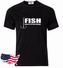 Buy Fish Nature's Lil Food Stamps Fishing Graphic T-Shirt Hunting