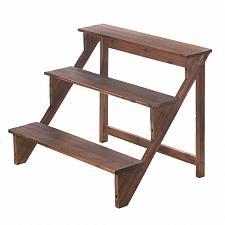 Buy *17255U - Brown Fir Wood 3 Steps Plant Stand