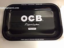 "Buy New OCB® Cigarette Papers Brand Metal Rolling Tray 11"" x 7"" Black Premium Medium"