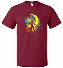Buy Moon Art Unisex T-Shirt Pop Culture Graphic Tee (2XL/Cardinal) Humor Funny Nerdy Geek