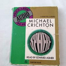 Buy audiobook-sphere-by-michael-Crichton-read-by-Edward-asner-cassette-tape/