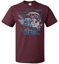 Buy TK 421 Unisex T-Shirt Pop Culture Graphic Tee (5XL/Maroon) Humor Funny Nerdy Geeky Sh