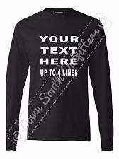 Buy Your Custom Personalized T Shirt Text Long Sleeve