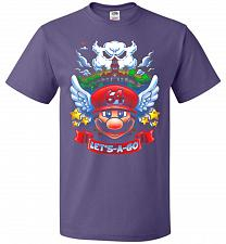 Buy Retro Mario 64 Tribute Adult Unisex T-Shirt Pop Culture Graphic Tee (5XL/Purple) Humo