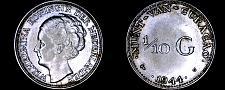 Buy 1944-D Curacao One Tenth Gulden Silver World Coin
