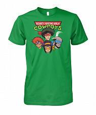 Buy Bounty Hunting Ninja Cowboys Unisex T-Shirt Pop Culture Graphic Tee (4XL/Irish Green)