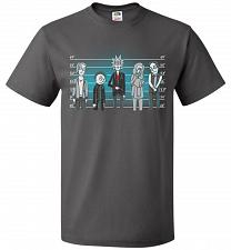 Buy Rick and Morty Unusual Suspects Unisex T-Shirt Pop Culture Graphic Tee (2XL/Charcoal