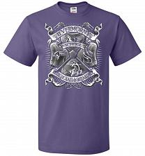 Buy Fantastic Crest Unisex T-Shirt Pop Culture Graphic Tee (2XL/Purple) Humor Funny Nerdy