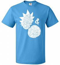 Buy Rick N Morty Unisex T-Shirt Pop Culture Graphic Tee (2XL/Pacific Blue) Humor Funny Ne