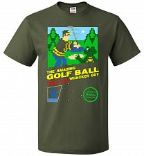 Buy Happy Golf Nintendo Parody Cover Adult Unisex T-Shirt Pop Culture Graphic Tee (L/Mili