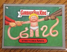 Buy Garbage Pail Kids Bns1 Silver Border -Stretched Saul - 51b Sticker 2012 GPK