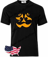 Buy Halloween T Shirt Sad Face Pumpkin Jack O Lantern Spooky Fun Easy Costume Tee