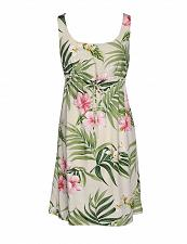 Buy Ladies Nalani Short Front Tie Adjustable Tank Rayon Hawaiian Dress #RJ-W113O-DS