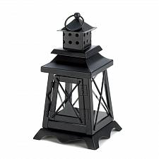 Buy *15412U - Black Metal Watch Tower Votive Candle Lantern