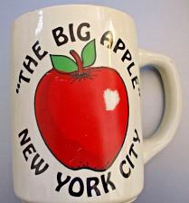 Buy New York City The Big Apple Coffee Mug Gold Rim