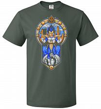 Buy Prince Of All Sayians Unisex T-Shirt Pop Culture Graphic Tee (5XL/Forest Green) Humor