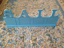 """Buy Turquoise Lettered """"Sail"""" Sign Approximately 20""""X 8"""" Free Standing Or Wall"""