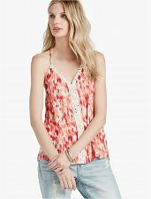 Buy 7WD4035NWT Lucky Brand Womens L Ikat Crochet Tank Top Cami